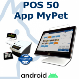 OLIVETTI POS ANDROID CON APP PET + STAMPANTE FISCALE PRT80 RT
