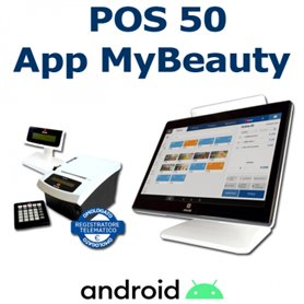 OLIVETTI POS ANDROID CON APP BEAUTY + STAMPANTE FISCALE PRT80 RT