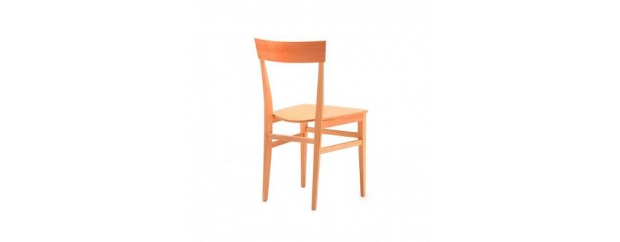 Sedia in legno con seduta in legno