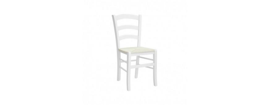 Sedia in legno, seduta impagliata