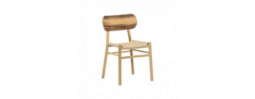 Sedia in legno di frassino, seduta impagliata