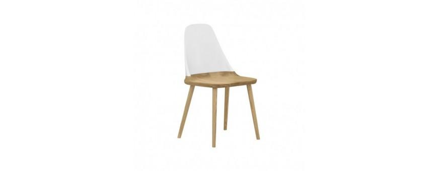 Sedia in legno di faggio, schienale in polipropilene