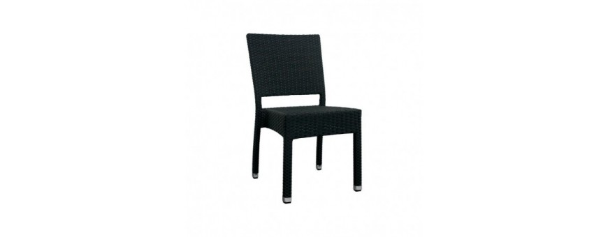 Sedia in alluminio, rivestimento in filo di polietilene