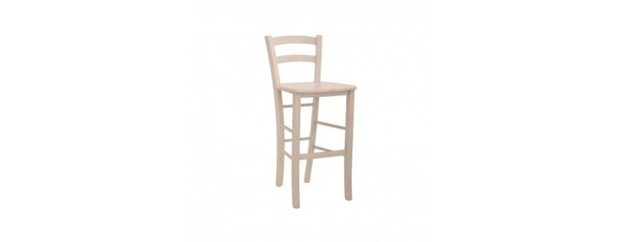Sgabello in legno, seduta in legno