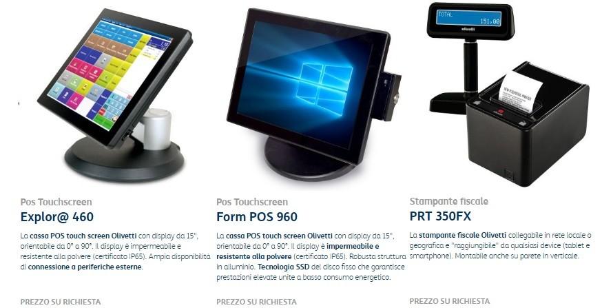 Touchscreen gestionali cassa